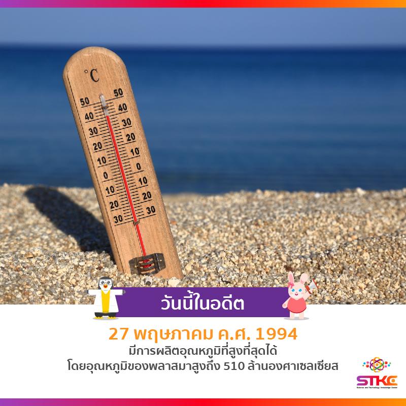 [วันนี้ในอดีต] อุณหภูมิสูงที่สุด (Highest Temperature)