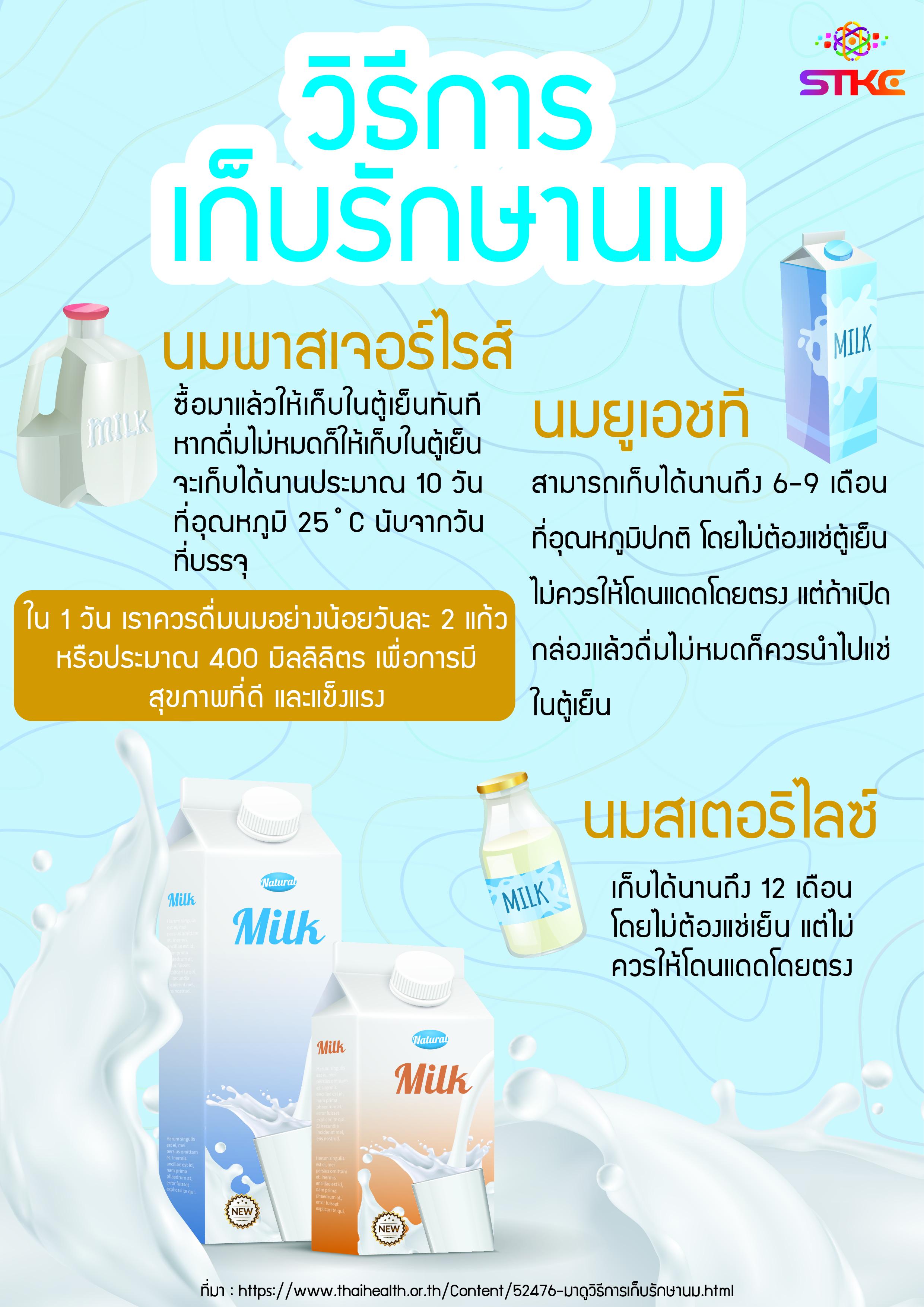 มาดูวิธีการเก็บรักษานม