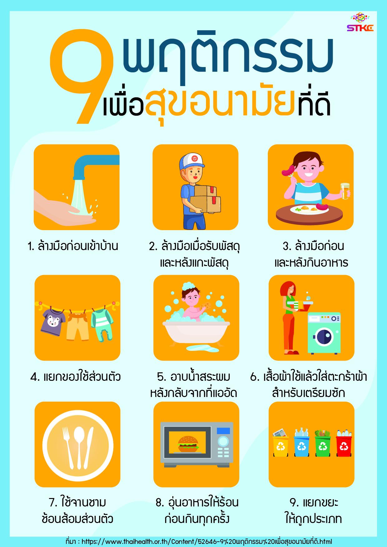 9 พฤติกรรม เพื่อสุขอนามัยที่ดี