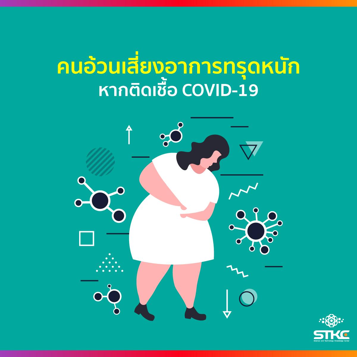 คนอ้วนเสี่ยงอาการทรุดหนัก หากติดเชื้อ COVID-19