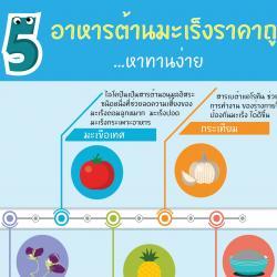 5 อาหารต้านมะเร็งราคาถูก หาทานง่าย