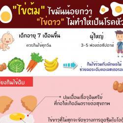 ไข่ต้ม ไขมันน้อยกว่า ไข่ดาว ไม่ทำให้เป็นโรคหัวใจ