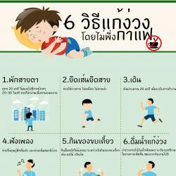 6 วิธีแก้ง่วง โดยไม่พึ่งกาแฟ