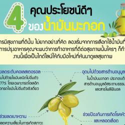 4 คุณประโยชน์ดีๆของน้ำมันมะกอก
