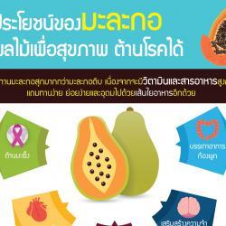 ประโยชน์ของมะละกอ ผลไม้เพื่อสุขภาพต้านโรคได้