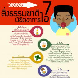 7 สิ่งธรรมชาติพิชิตอาการไอ